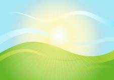 Paisagem na luz do sol Fotos de Stock