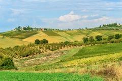 Paisagem na região do Chianti na província de Siena toscânia Italy imagens de stock