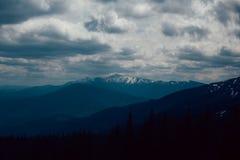 Paisagem nas montanhas Carpathians Ucrânia Foto de Stock