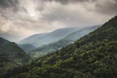 Paisagem nas montanhas dos rhodopes, Foto de Stock