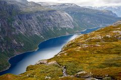 Paisagem natural de Noruega da natureza bonita imagens de stock