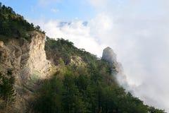 Paisagem nebulosa da montanha Foto de Stock