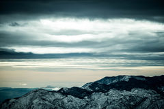 Paisagem nebulosa da montanha Imagem de Stock Royalty Free