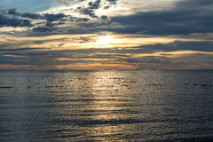 Paisagem nebulosa do por do sol Imagem de Stock Royalty Free