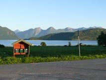 Paisagem Nesjestranda de Noruega Fotografia de Stock