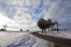 Paisagem nevada Imagem de Stock Royalty Free