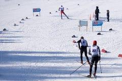 Paisagem nevado da estância de esqui Sotkamo de Vuokatti, Finlandia fotos de stock