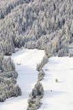 Paisagem nevado do cume Fotografia de Stock