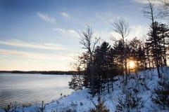 Paisagem nevado do inverno Fotos de Stock