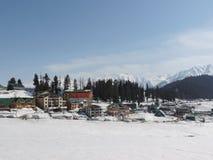 Paisagem nevado em Kashmir Fotos de Stock Royalty Free