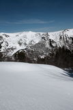 Paisagem nevado em Pyrenees Fotografia de Stock