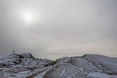 Paisagem nevoenta do inverno Foto de Stock Royalty Free