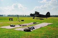 Paisagem no airdrome Imagem de Stock