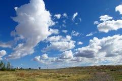 Paisagem no campo ao horizonte do céu Imagem de Stock Royalty Free