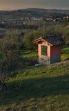 Paisagem no campo de Tuscan no Chianti perto de Florença imagem de stock royalty free