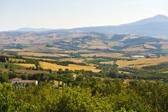 Paisagem no d'Orcia de Val (Toscânia) Foto de Stock Royalty Free