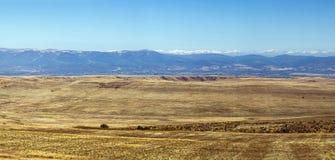 Paisagem no deserto Gareja, Geórgia Fotografia de Stock