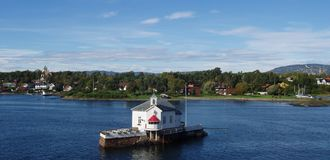 Paisagem no Fjord de Oslo, Noruega Fotografia de Stock Royalty Free