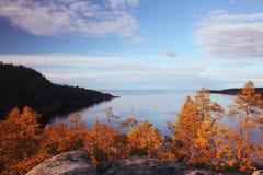 Paisagem no lago Fotografia de Stock