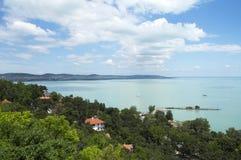 Paisagem no lago Balaton Foto de Stock Royalty Free