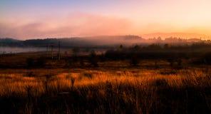 Paisagem no nascer do sol fotografia de stock royalty free