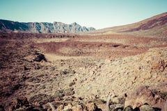 Paisagem no parque nacional de Teide, Ilhas Canárias Tenerife, Espanha Foto de Stock Royalty Free