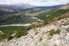 Paisagem no parque nacional do Los Glaciares, Argentina Fotos de Stock Royalty Free