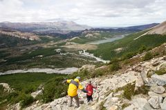 Paisagem no parque nacional do Los Glaciares, Argentina Imagem de Stock