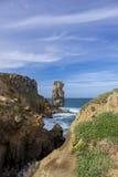 Paisagem no ponto de Papoa em Peniche Portugal Imagens de Stock Royalty Free