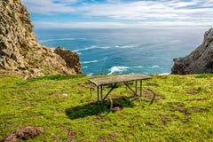 Paisagem no ponto Reyes, Costa do Pacífico, Califórnia fotografia de stock