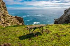 Paisagem no ponto Reyes, Costa do Pacífico, Califórnia fotos de stock royalty free