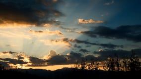Paisagem no por do sol Imagens de Stock