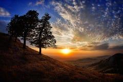 Paisagem no por do sol/nascer do sol Fotografia de Stock