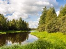 Paisagem no rio Imagens de Stock Royalty Free