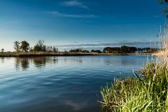 Paisagem no rio Nogat, Polônia Foto de Stock