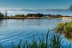 Paisagem no rio Nogat, Polônia Fotos de Stock Royalty Free