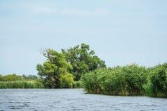 Paisagem no rio Peene perto de Loitz Foto de Stock Royalty Free
