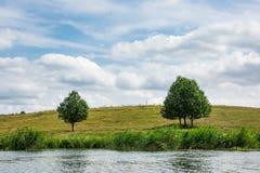 Paisagem no rio Peene perto de Loitz Fotografia de Stock Royalty Free
