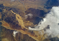Paisagem no Tibet fotografia de stock