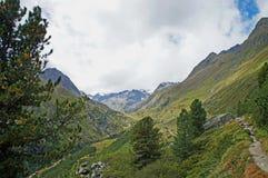 Paisagem no vale de Stubai em Tirol, Áustria Imagens de Stock Royalty Free