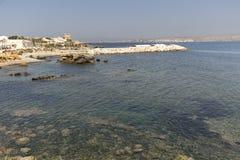 Paisagem no verão na ilha de Tabarca Imagem de Stock