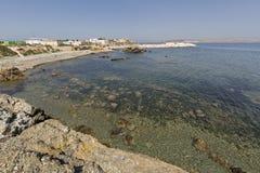 Paisagem no verão na ilha de Tabarca Fotos de Stock Royalty Free