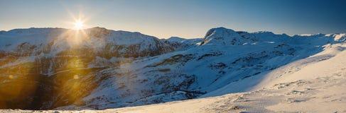 Paisagem norueguesa das montanhas Fotos de Stock