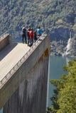 Paisagem norueguesa do fjord Ponto de vista de Stegastein Aurland visita Fotos de Stock