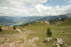 Paisagem nos alpes, France Imagem de Stock