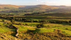 Paisagem nos vales de Yorkshire, Reino Unido fotografia de stock