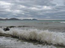 Paisagem nublado do mar de tempestade no Mar Negro Fotografia de Stock Royalty Free