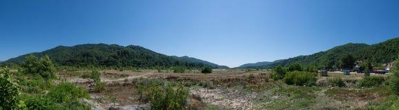 Paisagem panorâmico das montanhas caucasianos Imagem de Stock