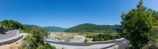 Paisagem panorâmico das montanhas caucasianos Imagens de Stock Royalty Free