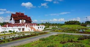 Paisagem panorâmico do parque real Rajapruek em Chiang Mai, Tailândia Fotografia de Stock